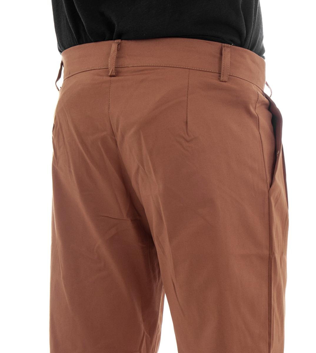Pantalone-Uomo-Tasca-America-Mattone-Cavallo-Basso-Casual-Pence-GIOSAL miniatura 6