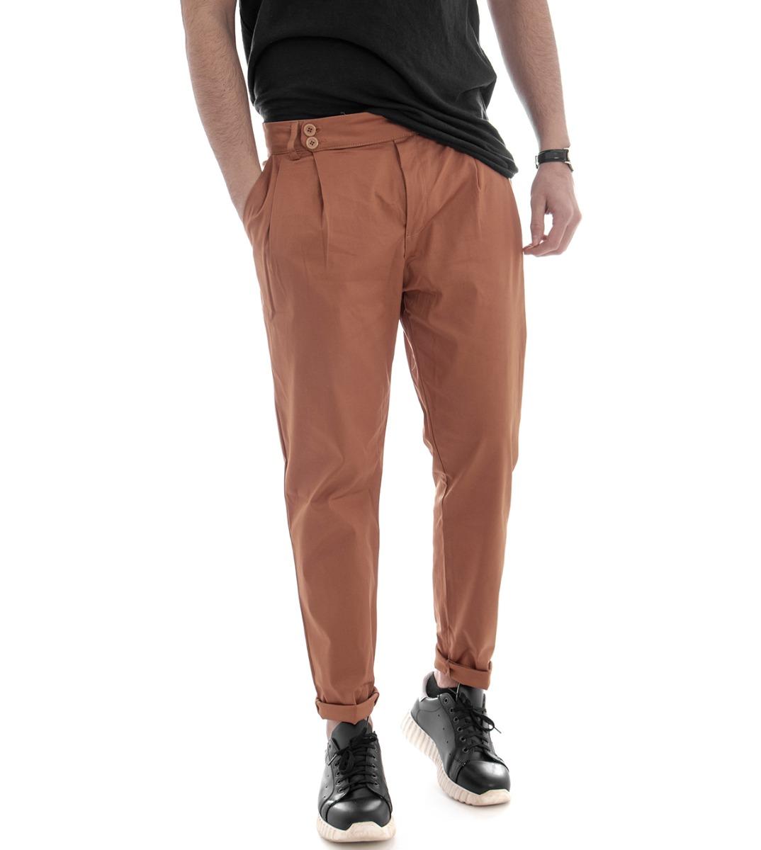 Pantalone-Uomo-Tasca-America-Mattone-Cavallo-Basso-Casual-Pence-GIOSAL