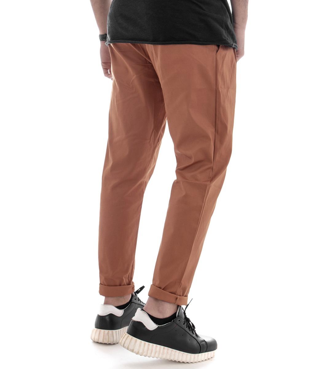 Pantalone-Uomo-Tasca-America-Mattone-Cavallo-Basso-Casual-Pence-GIOSAL miniatura 7
