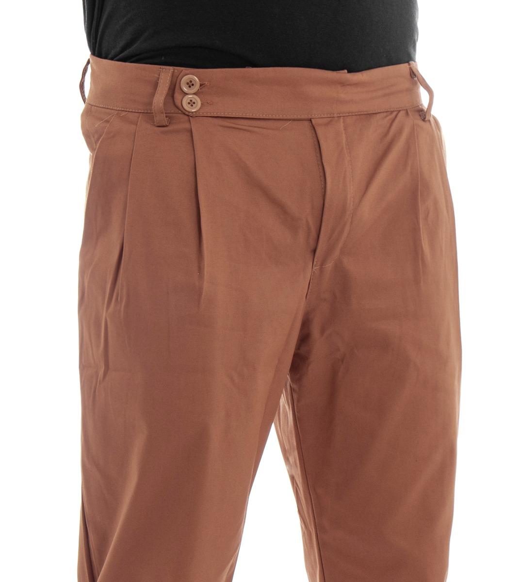 Pantalone-Uomo-Tasca-America-Mattone-Cavallo-Basso-Casual-Pence-GIOSAL miniatura 5