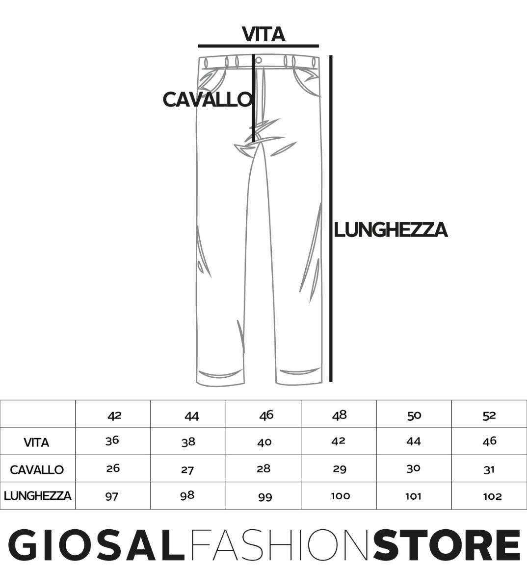 Pantalone-Uomo-con-Pence-Tasca-America-Blu-Tinta-Unita-Cavallo-Basso-Regular miniatura 8