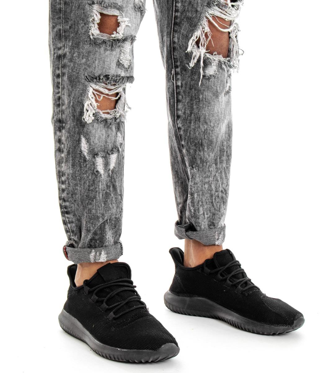 Pantalone-Uomo-Jeans-Grigio-Cinque-Tasche-Rotture-Cavallo-Basso-Strappato-Reg miniatura 10
