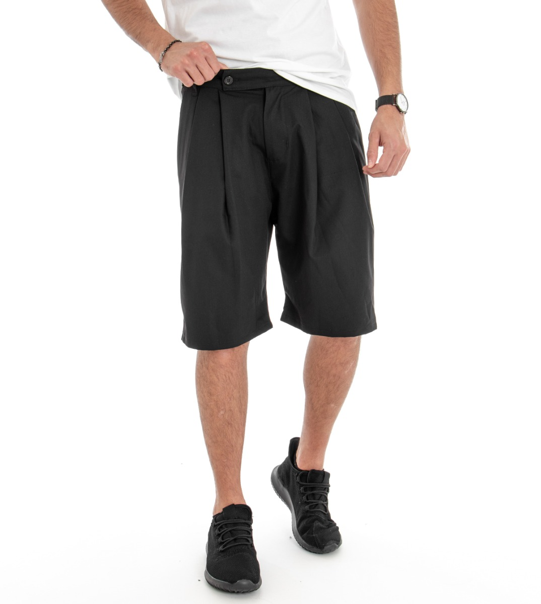 Bermuda Uomo Pantaloncini Pantalone Corto Fantasia Scozzese Grigio Casual GIOSAL