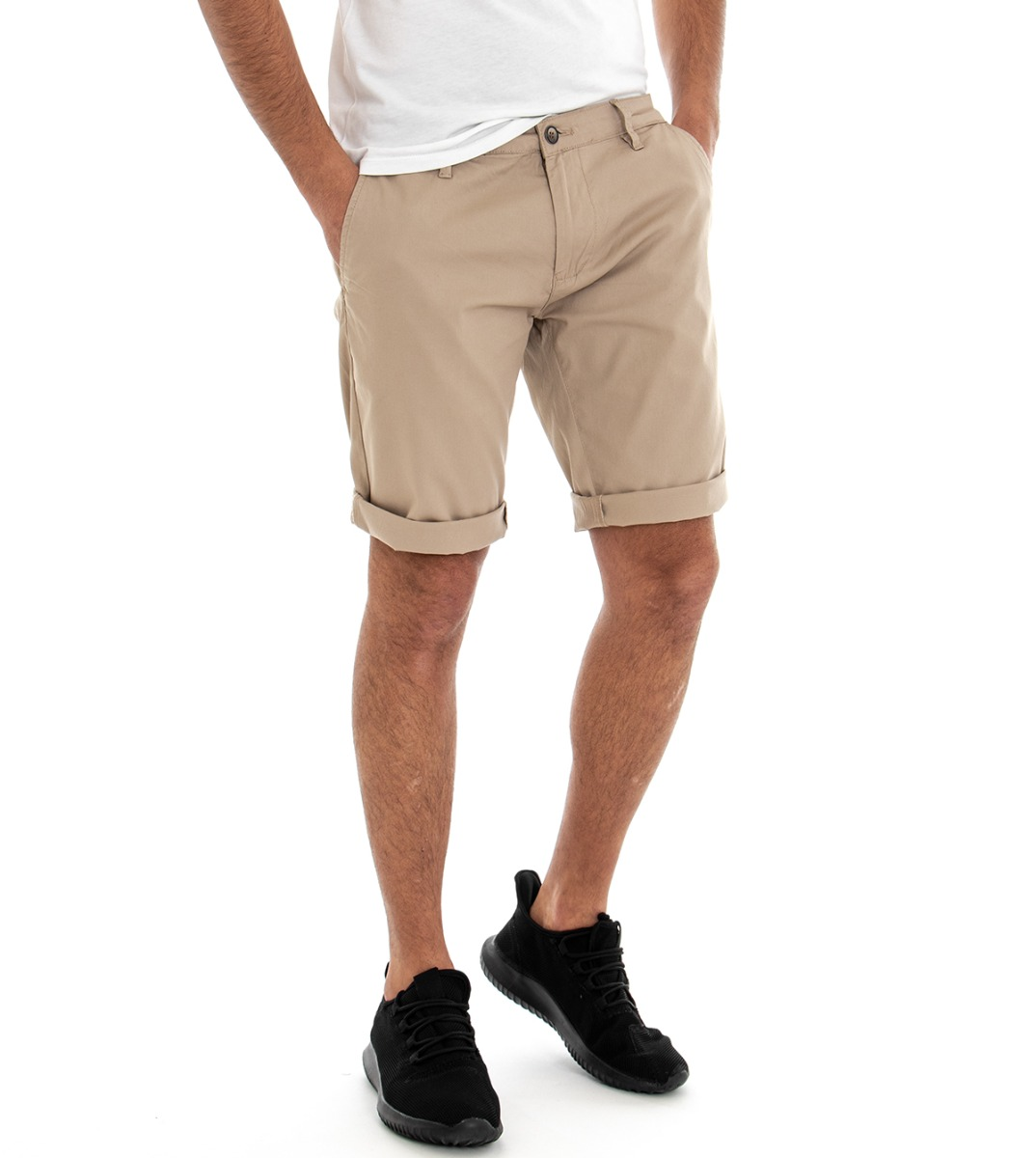 Pantalone Corto Uomo Bermuda Tasca America Fantasia Rombi GIOSAL